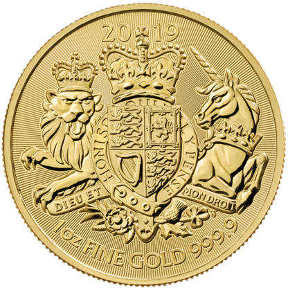 2019 1 oz. Great Britain Gold Royal Arms (BU)