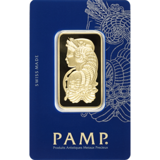 1 oz. Gold Bar - PAMP Suisse Lady Fortuna