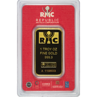 1 oz. Gold Bar - Republic