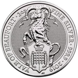 2019 2 oz. Silver Queen's Beast - Yale of Beaufort (BU)