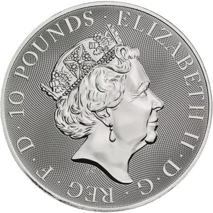 2019 10 oz. Silver Queen's Beast Black Bull of Clarence (BU)