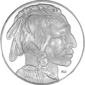 1 oz. Silver Round Buffalo - Highland Mint