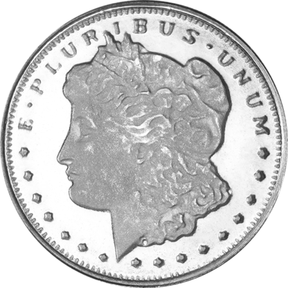 1/10 oz. Silver Round Morgan