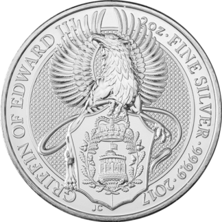 2 oz. Silver Queen's Beast Griffin (BU)