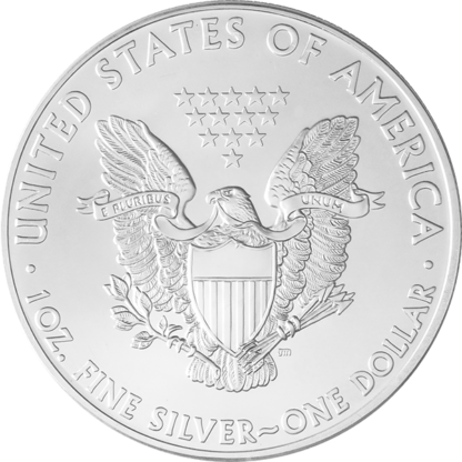 1 oz. American Silver Eagle  (BU) (Dates our choice)