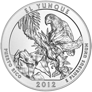 2012 5 oz. Silver America the Beautiful - El Yunque Puerto Rico (BU)