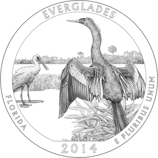 2014 5 oz. Silver American the Beautiful Florida Everglades (BU)