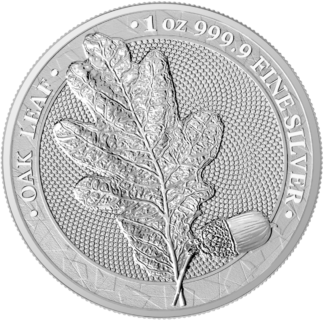 2019 1 oz. Silver Germania Mint Oak Leaf (BU)