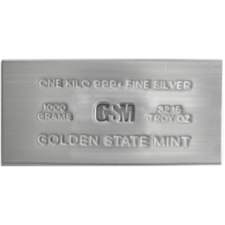 Kilo Silver Bar Golden State Mint Extruded
