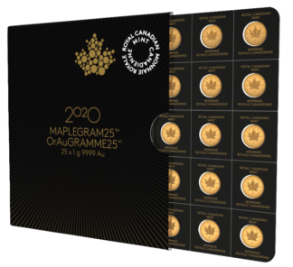 2020 25 Gram Gold Maplegram