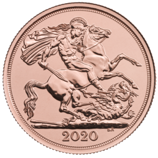 2020 Royal Mint Gold Double Sovereign (BU)