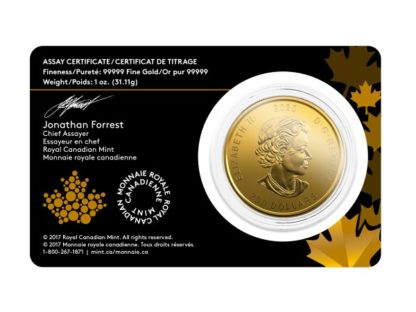 2020 1 oz. Royal Canadian Mint Gold Bobcat with Assay (BU)