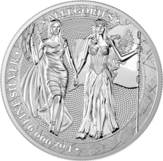 2019 1 oz. Silver Round Allegories Germania and Columbia (BU)