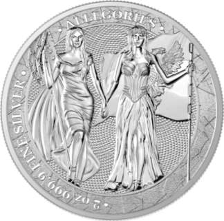 2019 2 oz. Silver Round Allegories Germania and Columbia