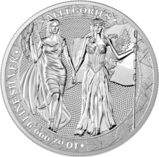 2019 10 oz. Silver Round Allegories Germania and Columbia