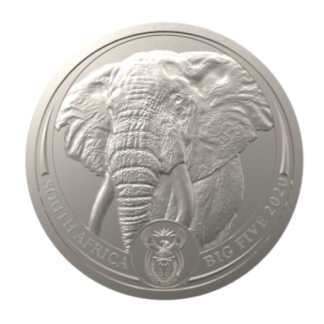 2020 1 oz. South African Platinum Elephant (BU)