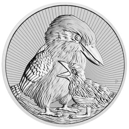 2020 2 oz. Piedfort Australian Silver Kookaburra Mother and Baby (BU)