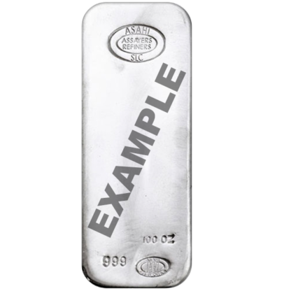 100 oz. Silver Bars LMBA Brands (Types vary)