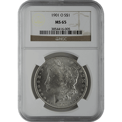 1878-1921 American Silver Morgan Dollar NGC MS65 (Dates Vary)