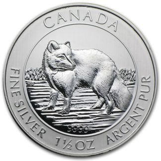 1.5 oz. Canadian Silver Arctic Fox (BU)
