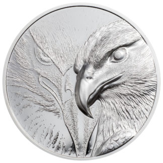 10 oz. Silver Round Incused Mongolia Majestic Eagle Ultra High Relief