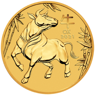 2021 1 oz. Perth Mint Gold Ox (BU)