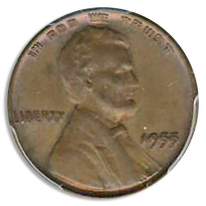 1955 Double Die Lincoln Cent PCGS MS64 BN CAC