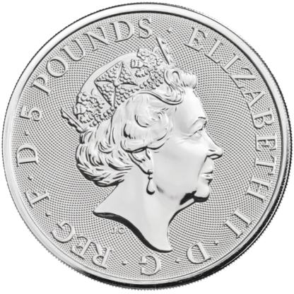 2021 2 oz. Silver Queens Beast White Greyhound of Richmond (BU)