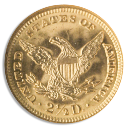 $2 1/2 Liberty MS63 Certified (Types Vary)