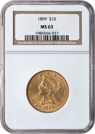 $10 Liberty MS63 Certified (Types Vary)