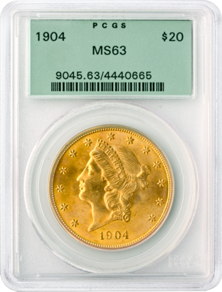 $20 Liberty MS63 Certified (Types Vary)