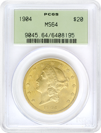 $20 Liberty MS64 Certified (Types Vary)