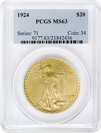 $20 Saint Gaudens MS63 Certified