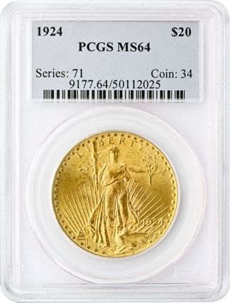 $20 Saint Gaudens MS64 Certified (Types Vary)