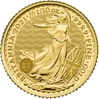 2021 1/10 oz. Great Britain Gold Britannia (BU)