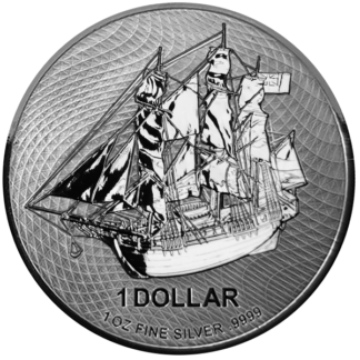 2020 1 oz. Cook Islands Silver HMS Bounty (BU)