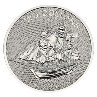 2020 2 oz. Cook Islands Silver HMS Bounty (BU)