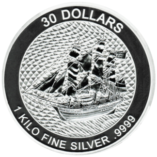 2020 Kilo Cook Islands Silver HMS Bounty (BU)
