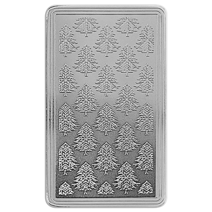 10 oz. Silver Christmas Bar - Rudolph the Red-Nosed Reindeer