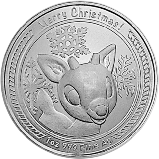 1 oz. Silver Christmas Round - Rudolph the Red-Nosed Reindeer