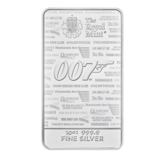 10 oz. Silver Bar - James Bond