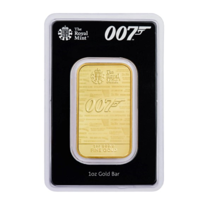 1 oz. Gold Bar - James Bond