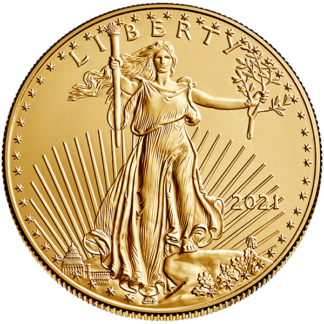 2021 1 oz. American Gold Eagle - Type I Reverse (BU)