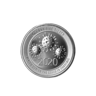 2 oz. Silver Round Covid-19 Virus Ultra High Relief