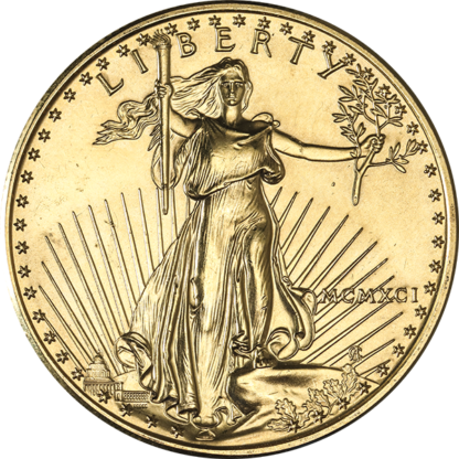 1 oz. American Gold Eagle Scruffy (Dates/Types Vary)