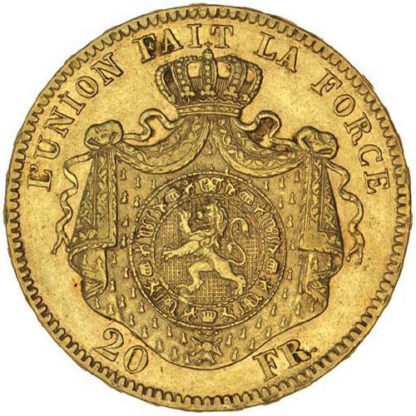 20 Belgian Franc Gold Coin (Dates/Types Vary)