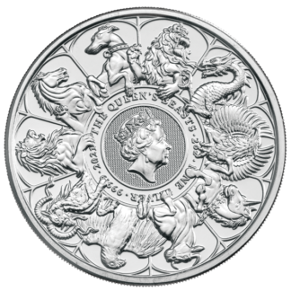 2021 2 oz. Silver Queen's Beast Completer Coin (BU)