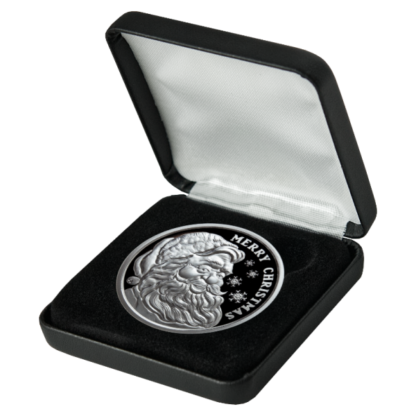1 oz. Silver Round Proof Santa Leatherette Box and Capsule - Golden State Mint